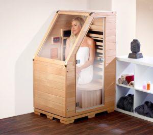 newgen medicals Sitzsauna für Zuhause Kompakte Infrarot - PLATZ 2